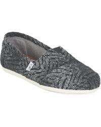 TOMS - Seasonal Classic Women's Slip-ons (shoes) In Grey - Lyst