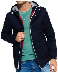 Superdry - New York Harbour Coat Men's Jacket In Multicolour - Lyst
