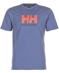 Helly Hansen - Hh Logo Men's T Shirt In Blue - Lyst