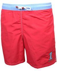 Hackett Short de bain One rouge et bleu pour homme hommes Maillots de bain en rouge