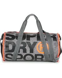 24f5dc608378 Superdry - Xl Sports Barrel Men s Sports Bag In Grey - Lyst