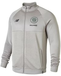 New Balance - 2018-2019 Celtic Training Walkout Jacket Men's Tracksuit Jacket In Grey - Lyst
