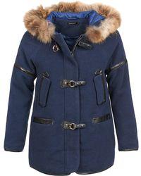 Color Block - Wangu Women's Coat In Blue - Lyst