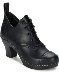 Swedish Hasbeens - Lace Up Shoe Women's Low Boots In Black - Lyst