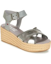 999ce9dc8bafce Tommy Hilfiger Fw56820667 Wedge Sandals Women Black Women s Sandals ...