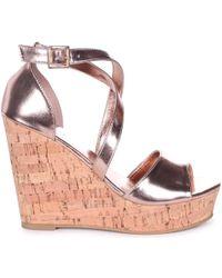 Linzi - Demi Women's Sandals In Gold - Lyst