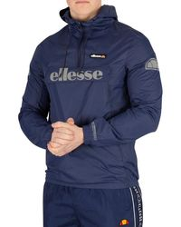 Ellesse - Homme Veste Berto 2, Bleu hommes Coupes vent en bleu - Lyst