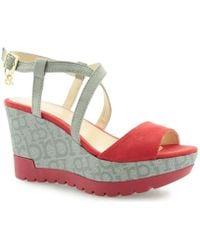 Roccobarocco - Ade Rosso Grigio Women's Sandals In Multicolour - Lyst