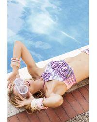 Maaji - Bikini Top To Tie On The Back Multicolour Purple - The Mulberr Women's In Multicolour - Lyst