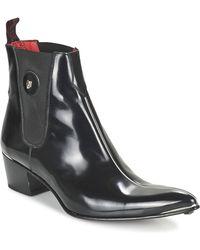 Jeffery West | Centre Seam Chelsea Men's Mid Boots In Black | Lyst