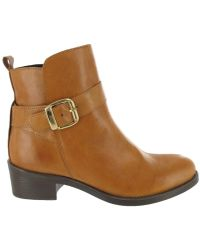 Marta Jonsson - Ankle Boot With A Golden Buckle Women's Low Ankle Boots In Brown - Lyst