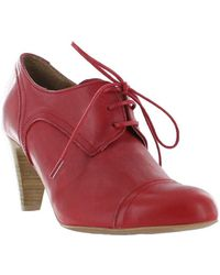 Marta Jonsson - Women's High Heeled Lace Up Shoe Women's Low Boots In Red - Lyst
