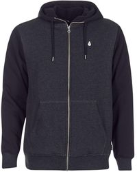 Volcom - Single Stone Lined Zip Sherpa Men's Sweatshirt In Black - Lyst