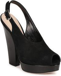 Sebastian - Camoscio Women's Sandals In Black - Lyst