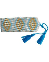 Amadoria - Silver, Turquoise And Gold Bracelet Java Women's Bracelet In Blue - Lyst