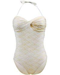 Carla Bikini - 1 Pièce White Swimsuit Essential Goldbling Women's Swimsuits In White - Lyst