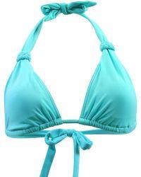 Carla Bikini - Turquoise Triangle Swimsuit Charm Oceandeep Women's Mix & Match Swimwear In Blue - Lyst