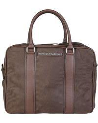 Trussardi - 71b984t_marrone Men's Briefcase In Brown - Lyst