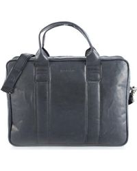 Brødrene - 7188 Men's Briefcase In Black - Lyst