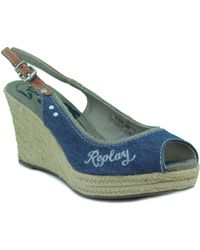 Replay - Fifth Woman Women's Sandals In Blue - Lyst
