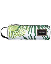 Quiksilver - Pencil Print Case - Bp Protea White Men's Cosmetic Bag In White - Lyst