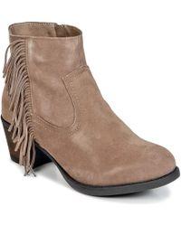 Wildflower - Calipso Women's Low Ankle Boots In Beige - Lyst