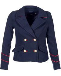 Vero Moda - Swigy Women's Coat In Blue - Lyst