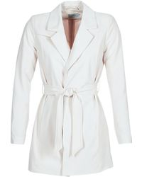 ONLY - Dicte Runa Women's Trench Coat In White - Lyst