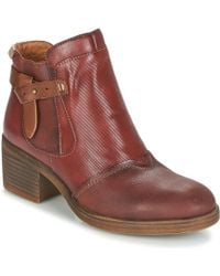 Pikolinos - Lyon W6n Women's Low Ankle Boots In Red - Lyst