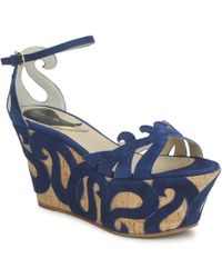 Etro - 3489 Women's Sandals In Blue - Lyst