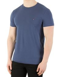 Tommy Hilfiger - Men's Stretch Slim Fit T-shirt, Blue Men's T Shirt In Blue - Lyst