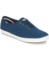 Keds - Champion Dot Eyelet Women's Shoes (trainers) In Blue - Lyst