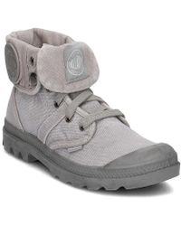 Palladium - Pallabrouse Baggy Women's Shoes (high-top Trainers) In Grey - Lyst