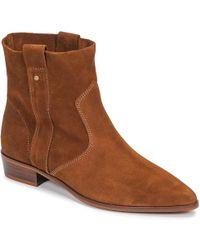 43af5f73704e42 IKKS - BOOTS PLATES femmes Boots en Marron - Lyst
