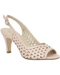 Lotus - Canaan Womens Sling Back Peep Toe Sandals Women's Sandals In Pink - Lyst