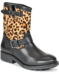 Guess - Lolla Women's Mid Boots In Brown - Lyst
