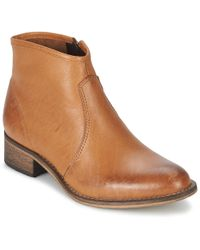 Betty London - Nidia Women's Mid Boots In Brown - Lyst