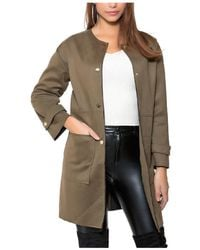 Infinie Passion - Khaki Coat 00w060225 Women's Coat In Green - Lyst