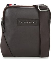 Tommy Hilfiger | Th City Crossbody Men's Pouch In Brown | Lyst