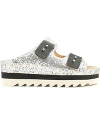 Luca Stefani | 580230 Sandals Women Silver Women's Mules / Casual Shoes In Silver | Lyst