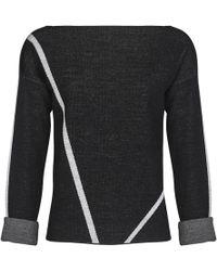 Mado Et Les Autres - Jumper Graphic Lines Long Sleeves Women's Sweatshirt In Black - Lyst