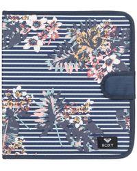 Roxy - What A Day - Carpeta De 4 Anillas Women's Purse Wallet In Blue - Lyst