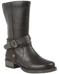 Lotus - Huambo Womens Calf Length Boots Women's In Black - Lyst