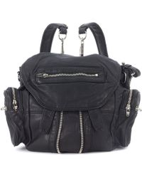 Alexander Wang - Mini Marti Black Leather Backpack Women's Backpack In Black - Lyst