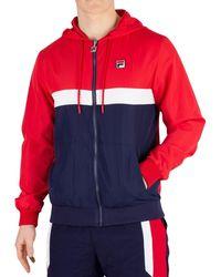 84fba650db17 ... Light Grey Marl Rumi Colour Block 1/4 Zip Hoodie - Lyst · Fila - Men's  Ambrose Colour Block Jacket, Blue Men's Sweatshirt In Blue - Lyst