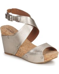 Lucky Brand - Moran Women's Sandals In Gold - Lyst