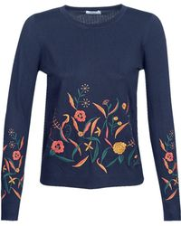 Betty London - Jofun Women's Sweater In Blue - Lyst