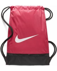 Nike - Brasilia Gymnase Sac Fucsia femmes Sac à dos en rose - Lyst