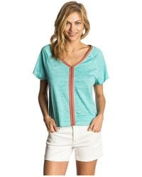 Rip Curl - Top Lennox Tee 0189 Azul Women's T Shirt In Blue - Lyst