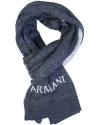 Armani Jeans - Gift Set Hat And Scarf 937503 Cc783 Men's Scarf In Grey - Lyst
